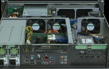 Water-cooled 2U rack PC